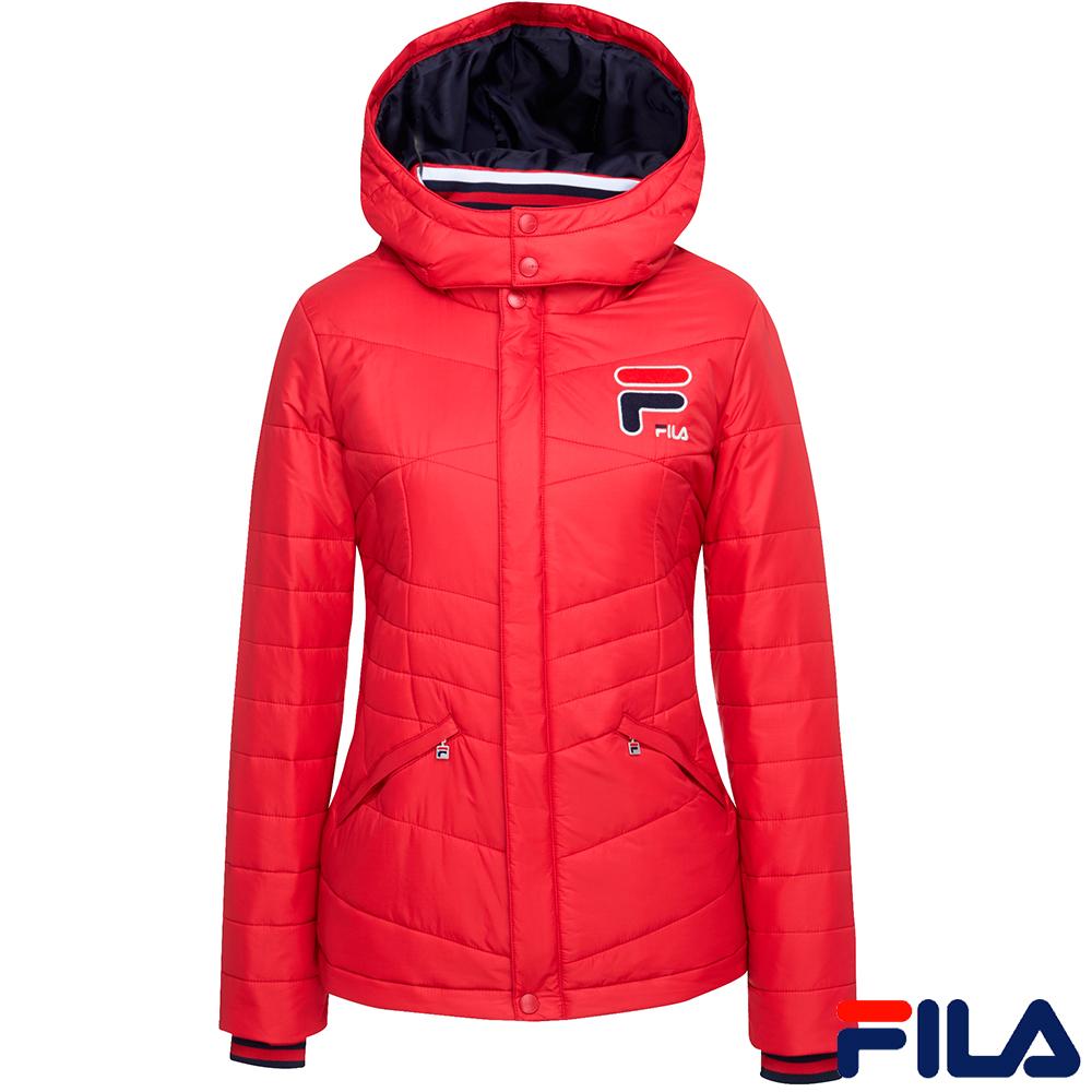 FILA女舖棉外套-紅5JKR-5431-RD