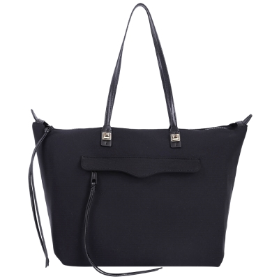 Rebecca Minkoff MAB Neoprene 拼接設計購物包(黑色)
