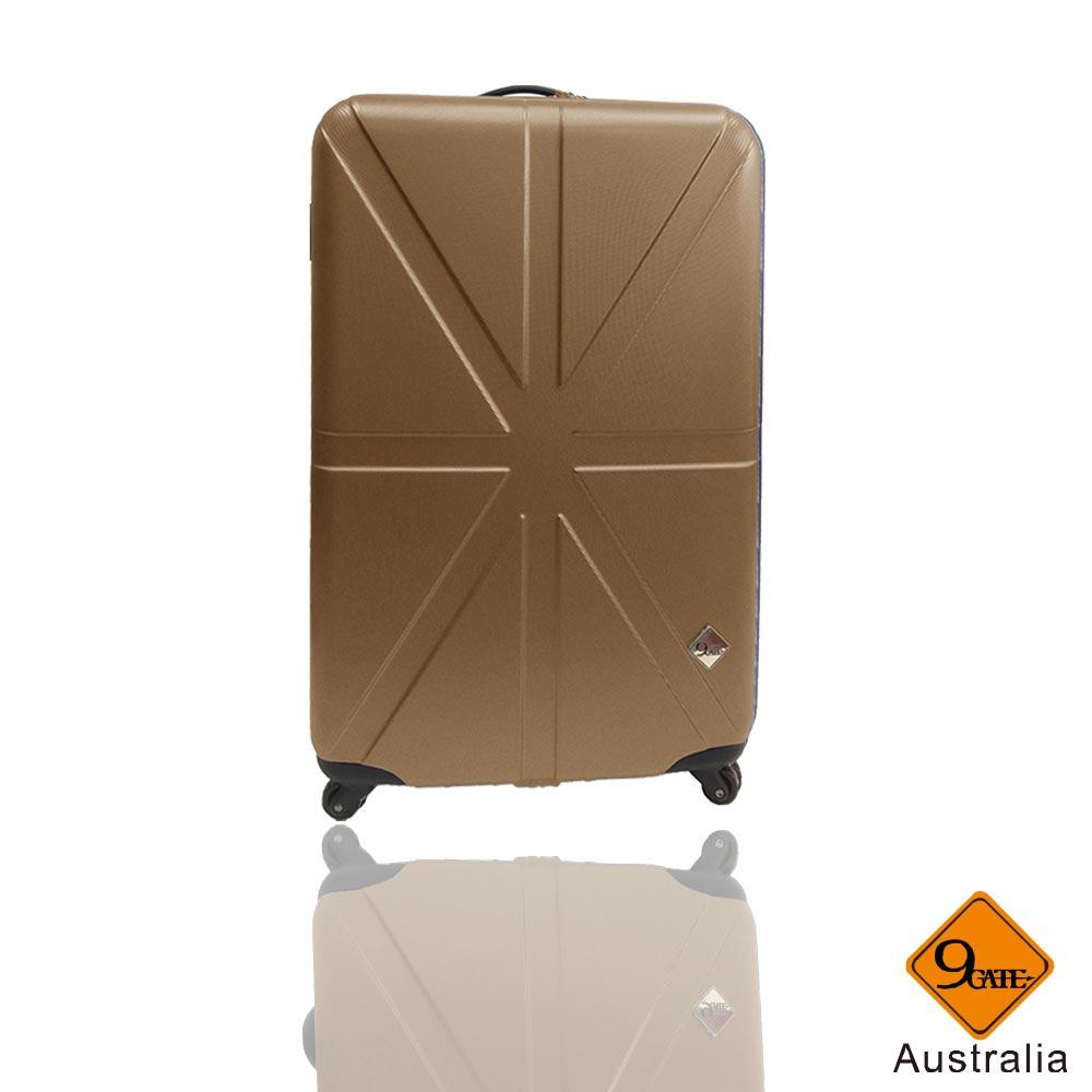 Gate9 米字英倫系列20吋輕硬殼旅行箱/行李箱-焦糖金