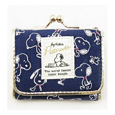 Marimo SNOOPY休閒系列帆布迷你短夾(藍)