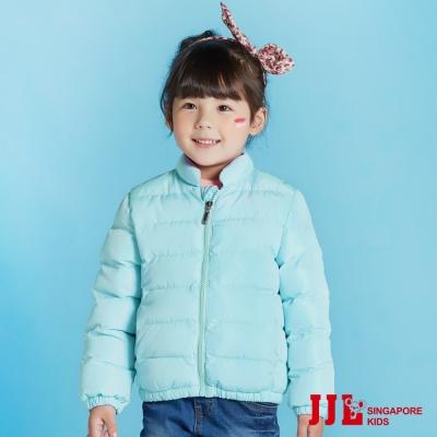 JJLKIDS 亮眼素面保暖短款立領鋪棉外套(綠色)