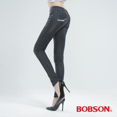 BOBSON 大彈力緊身牛仔褲(JEGGING)-深灰