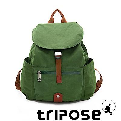 tripose MEMENTO系列微皺尼龍輕量防潑水後背包-小 青草綠