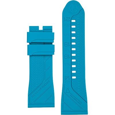 SEVENFRIDAY 原廠矽膠錶帶-土耳其藍