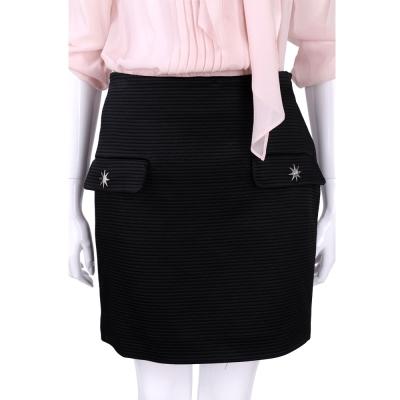LOVE MOSCHINO 黑色浮雕條紋星飾短裙