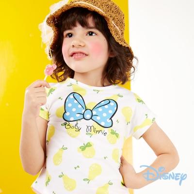 Disney個性不對襯印圖上衣 黃色