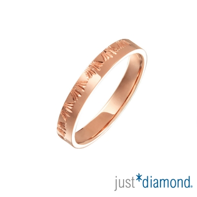 Just Diamond 18K玫瑰金戒指(3mm)-稻束