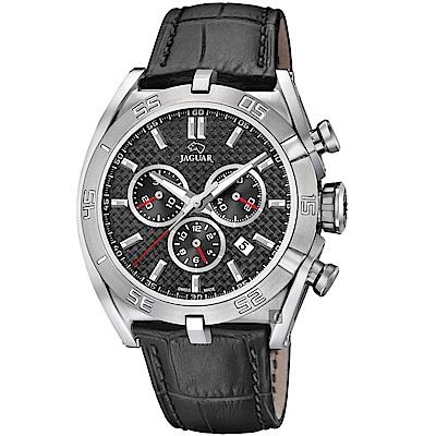 JAGUAR積架 EXECUTIVE 極速計時手錶-灰x黑色錶帶/45.8mm