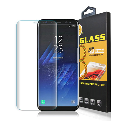 GLA 三星 Galaxy S8+/S8 Plus 3D滿版9H鋼化玻璃膜(全透...