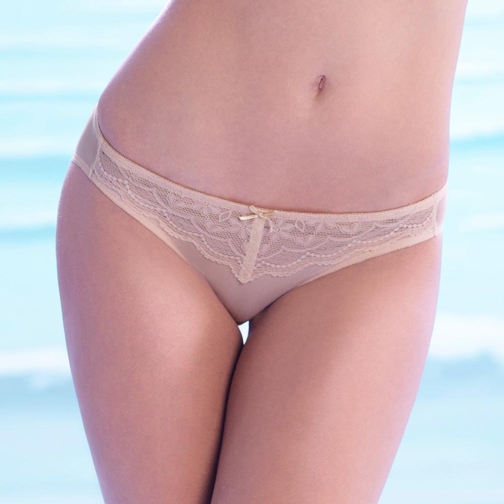 黛安芬-透氧Bra T-SHIRT蕾絲版 M-EL低腰內褲(隱藏膚)