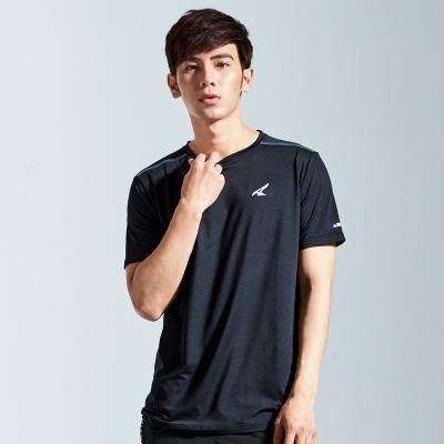 【AIRWALK】簡約吸排圓領T恤-黑