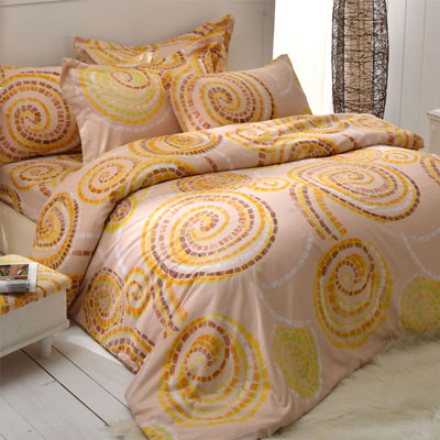 AmoreCasa 幾何拼貼 玫瑰絨加大四件式被套床包組