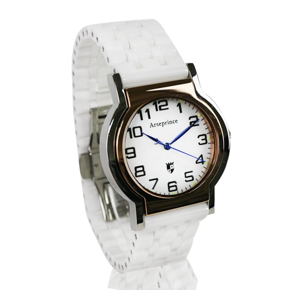 【Arseprince】Y世極簡時尚中性錶-白色