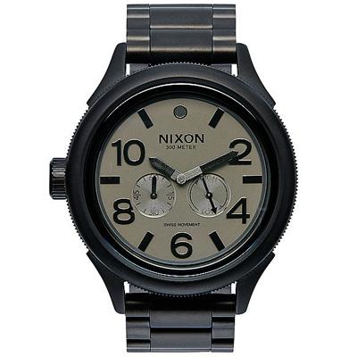 NIXON  OCTOBER TIDE  戰鷹裴龍經典時尚腕錶-黑/48mm
