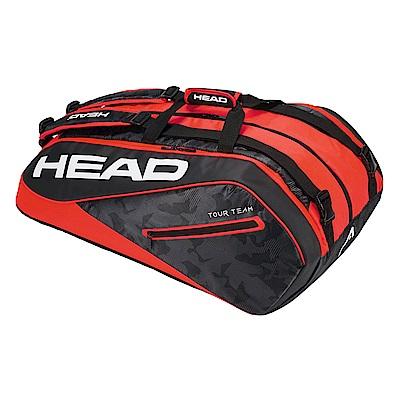 HEAD Tour Team系列 12支裝球拍袋-黑紅 283108