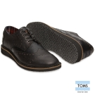 TOMS 真皮英國學院牛津鞋-男款(黑)