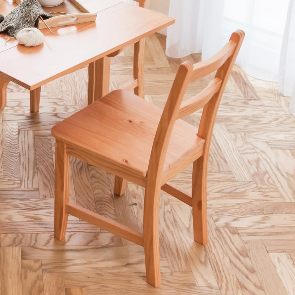 CiS自然行實木家具- 北歐實木書椅(溫暖柚木色)原木椅墊