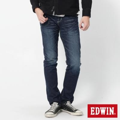EDWIN 503 B.T不對稱後袋AB牛仔褲-男-中古藍