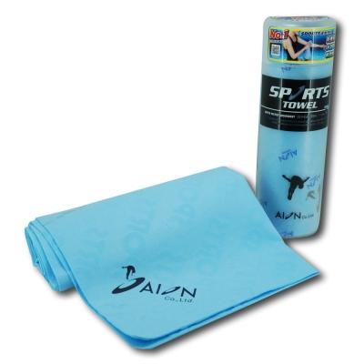 AION 日本原裝 合成羚羊皮巾–運動專用(藍)