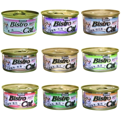 SEEDS 健康銀貓Bistro Cat健康餐罐 80g X 48罐