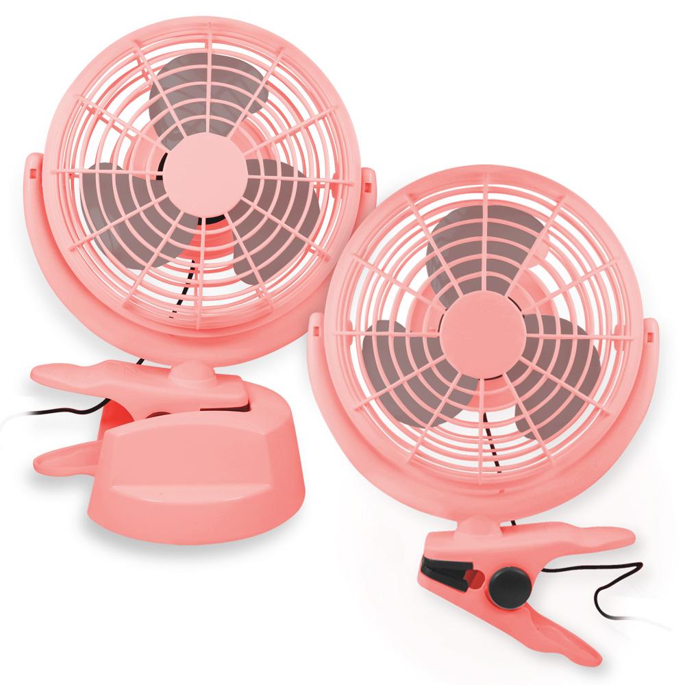 立式/桌夾 兩用USB 風扇 - 粉紅