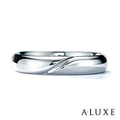 A-LUXE 亞立詩鑽石  18 K金情侶結婚戒指-男戒