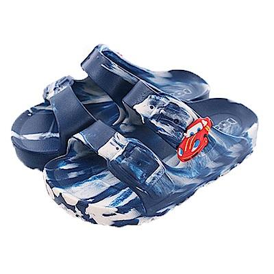 小紅車輕量休閒涼拖鞋 藍 sk0335 魔法Baby