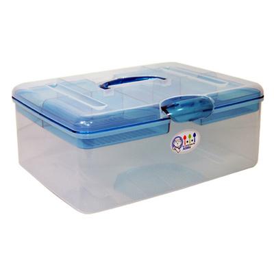 【創意達人】超級吐司A4手提收納箱 (2入)