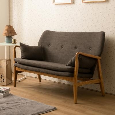 諾雅度 Moira莫伊拉和風日作雙人椅-鐵灰