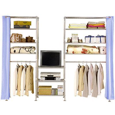 巴塞隆納-W4型60+60+90置物/衣櫥收納架