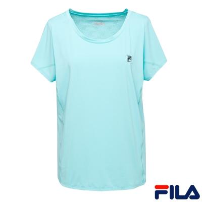 FILA女短袖罩衫-藍綠5TER-1611-TG