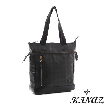 KINAZ-navy-黑色魅力肩揹包-搖滾不敗系列-特賣品
