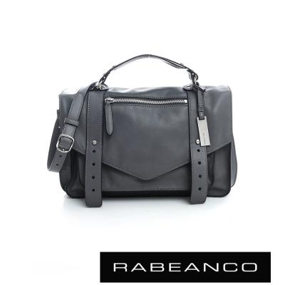 RABEANCO Modern現代美學系列雙飾帶包(小) 暗灰