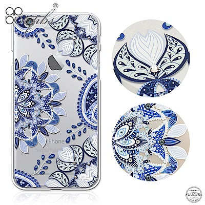apbs iPhone6s/6 Plus 5.5吋 施華洛世奇彩鑽手機殼-青花瓷