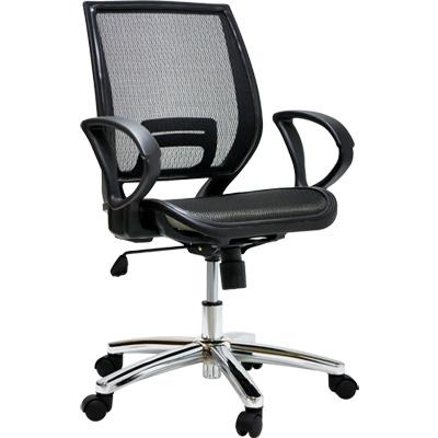 【NICK】韌性全網電鍍金屬腳辦公椅/電腦椅(四色)