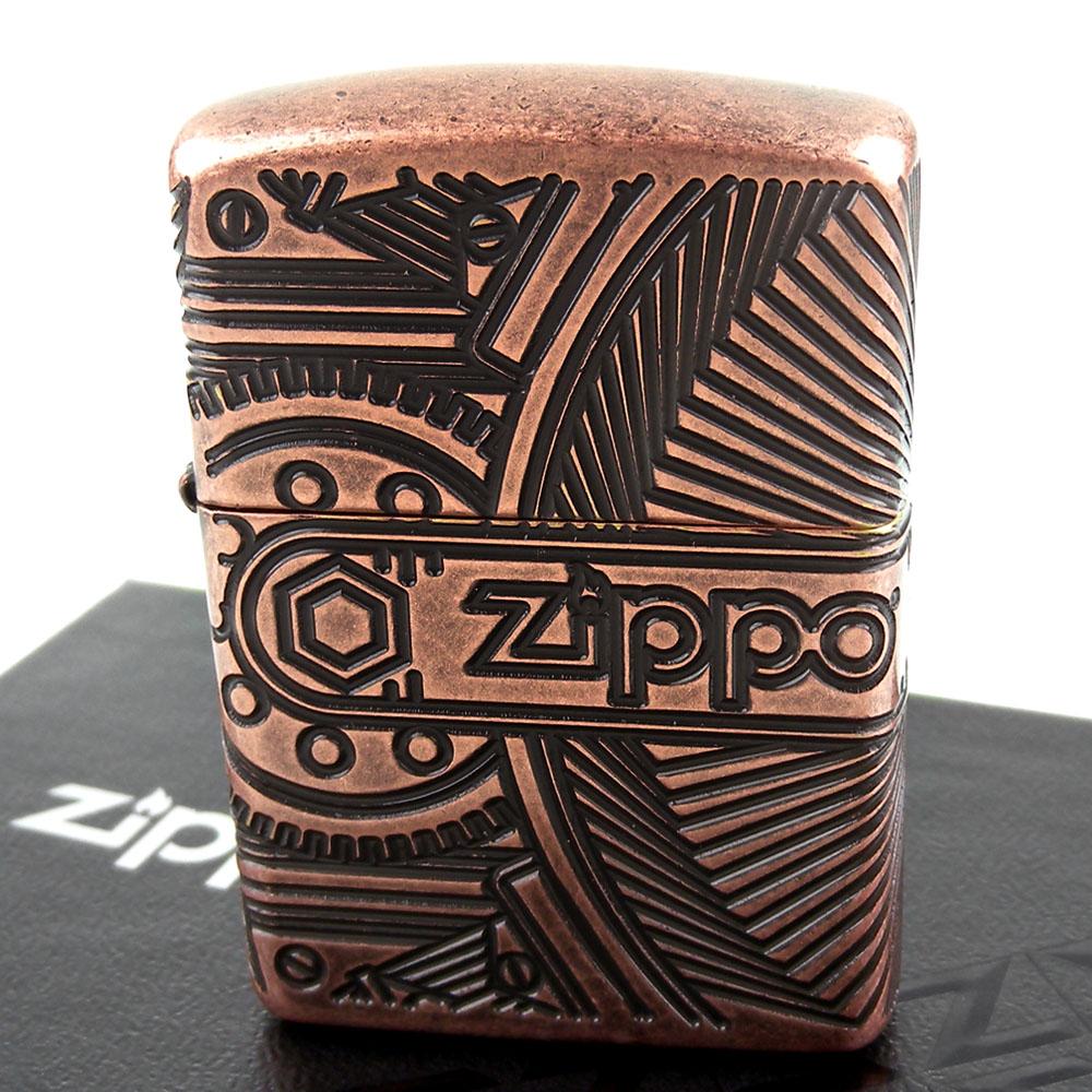 ZIPPO 美系~Steampunk-蒸汽龐克齒輪圖案打火機