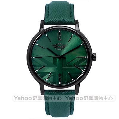 MINI Swiss Watches Cooper英倫風時尚手錶-綠/42mm