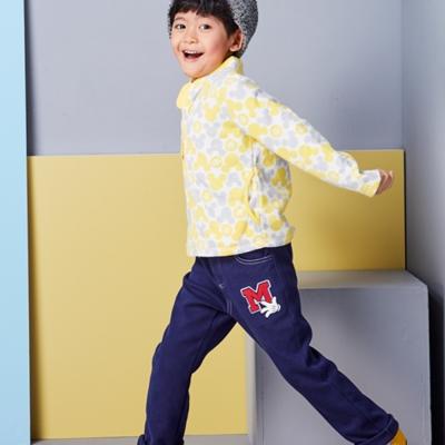 Disney 米奇系列簡約磨毛彈力休閒長褲 (共2色)