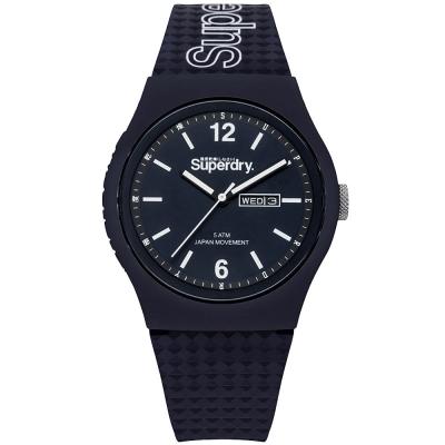 Superdry 極度乾燥Urban繽紛玩色時尚手錶-深藍/ 43 mm