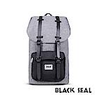 BLACK SEAL 聯名8848系列-撞色拼接雙皮帶釦機能大容量後背包- 質感灰