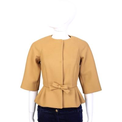 RED-VALENTINO-駝色優雅法式小外套