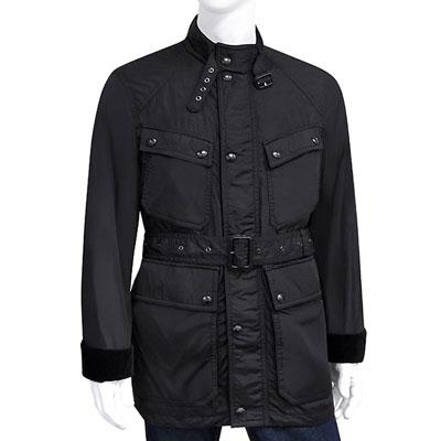 BURBERRY 黑色輕量綁腰紳士風衣外套-US38/40號