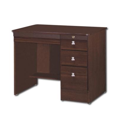 AS-Laura3尺胡桃色書桌-91.5x61x76cm