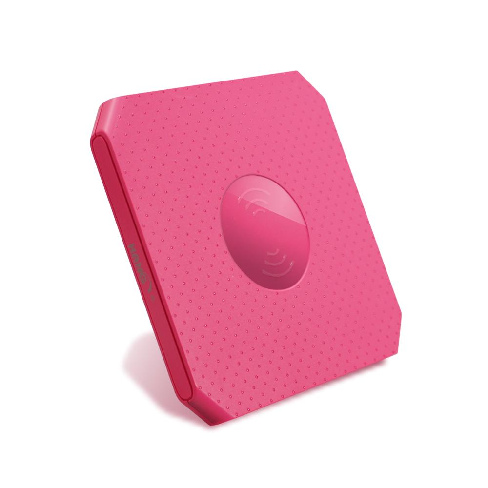 HANG W11方塊無線充電座-支援 QC 3.0 快速充電- 粉