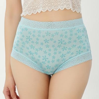 內褲 五瓣花100%蠶絲中高腰三角內褲 (藍) Chlansilk 闕蘭絹