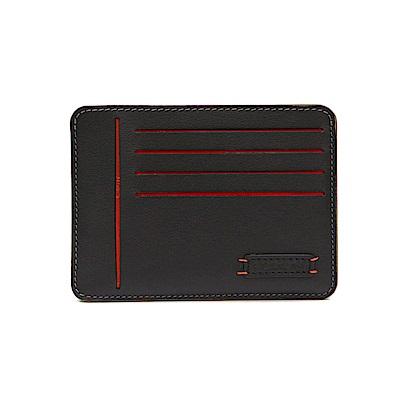 FEDON 1919 Ninja 雙色8卡名片薄卡夾-黑灰