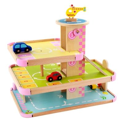 Amuzinc酷比樂 木頭玩具 立體停車場 15048 (3Y+)