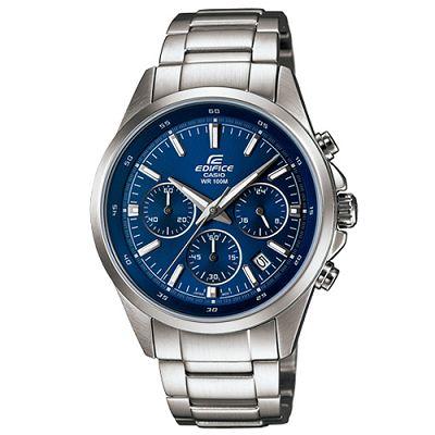 EDIFICE 簡單時尚經典時刻賽車計時錶(EFR-527D-2)-藍/41mm