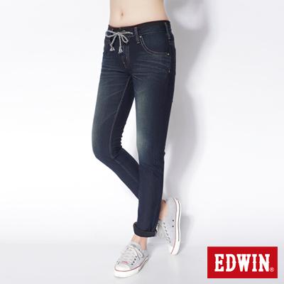 EDWIN-503迦績褲-JERSEYS圓織直筒牛仔褲-女款-原藍磨