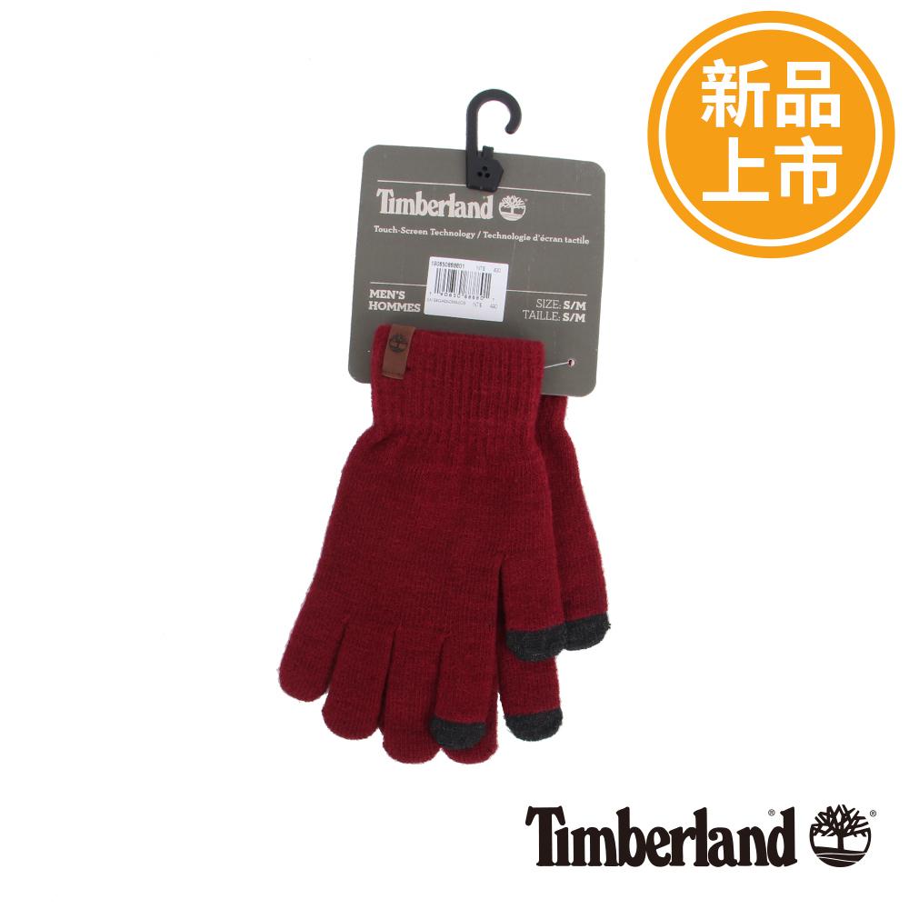 Timberland 紅色皮革標誌手套